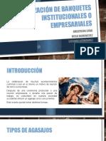 Organización de Banquetes Institucionales o Empresariales