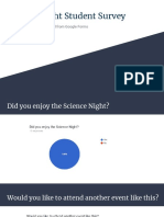 science night student survey