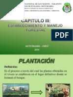 CAPITULO III - Establecimiento y Manejo Forestal