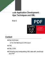 Web Application Development - Lecture 6