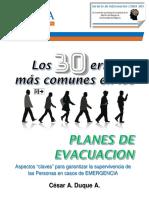 Los 30 Errores mas Comunes en Planes de Evacuacion - CESAR DUQUE - version EBOOK Julio 2017.pdf