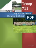 Boy Scout Troop 711 Campout Planning Guide Ver 9