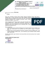 Surat Ka Eksekutif KARS Nomor 1970 Th 2017 Ttg Standar Nasional Akreditasi RS Edisi 1 SNARS Edisi 1