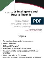 How I teach BI watson.ppt