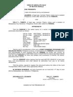 Deed of Absolute Sale Mv-ramos