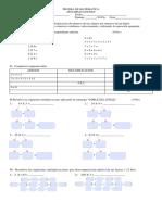 Prueba de Matematica Multiplicaciones