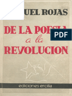 De La Poesia a La Revolucion Manuel Rojas