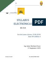 Sílabo Electrónica I