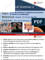 6 CH25 General Anatomy & Digestive Processes & Mouth to Esophagus 2015