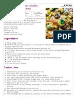 One Pot Garlic Butter Chicken Thighs and Mushrooms Recipe
