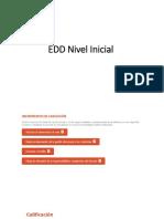 EDD Nivel Inicial