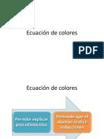 Ecuación de Colores