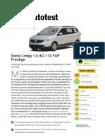 Dacia Lodgy 1 5 DCi 110 FAP Prestige