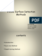 Visible Surface Detection Methods