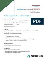 AutoCAD 2017 Essentials - 3 Days