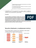 Los objetivos se centran específicamente en los cálculos relacionados con los cálculos estequiométricos que involucran al reactivo limitante.docx