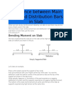 Difference Between Main Bars and Distribution Bars in Slab