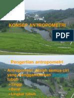 KONSEP ANTROPOMETRI,