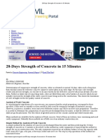 28-Days Strength of Concrete in 15 Minutes