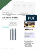 Lap Length of Reinforcement Bars