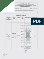 DSSSB Exam Date