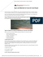 Injection Grouting for Concrete Crack Repair - Its Types and Materials