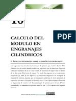 Cálculo Del Módulo de Engranejes Rectos
