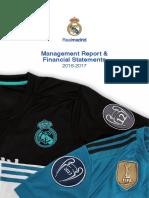 1.1 Management 2016 2017 Rm