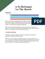9 Beaches in Batangas Perfect for the Beach Bum