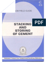NCBI Recommendations StackingAndStoringOfCement