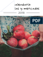 Calendario Ferias y Mercados 2018 Asturias