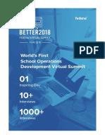 BETTER 2018 - Fedena Virtual Summit