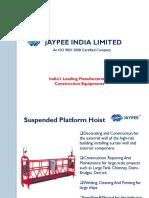 Suspended Platform Hoist JAYPEE INDIA LIMITED.pptx