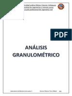 Análisis Granulométrico Suelos 2222222222222222222 2018-1