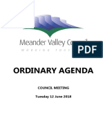 Meander Valley Council agenda June 2018