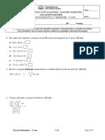 2º Teste Sumativo v. B - 3º Trimestre