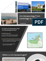 Uro-Gynaecology From Cambridge to UAE?
