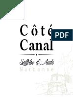 Plaquette Cote Canal Salleles d Aude