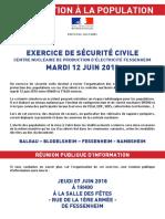 EXERCICE DE SÉCURITÉ CIVILE- FESSENHEIM