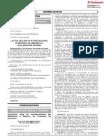 Ley que declara de interés nacional el incentivo al desarrollo de la industria atunera