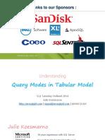 SQLSatHolland2014_JulieKoesmarno_UnderstandingQueryModesInTabularModel