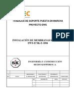 16366-EWS-ICSK-E-1004 Instalación de Membranas RO Racks