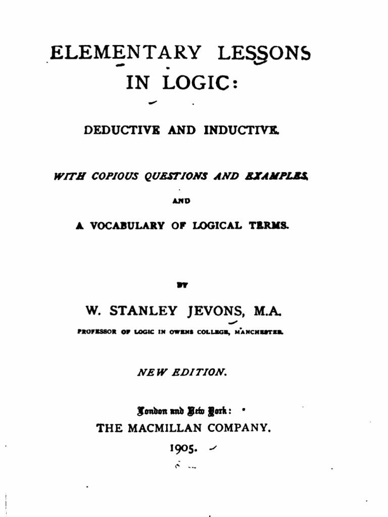Elephant En Inde Signification elementary lessons in logic 1905