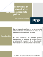 Participación Política en Jóvenes Universitarios