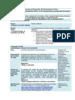 Planeaciones de Clase Para El Desarrollo Del Pensamiento Crítico Lenguaje