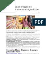 5 Fases en El Proceso de Decisión de Compra Según Kotler
