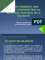 Unidad 7 El Voto Femenino - Wendis Jaramillo