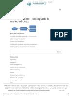 Microsoft Word - Biología de La Ansiedad.docx - AMADAG