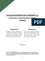 Evaluacion de Impacto Del Programa 4 a 7