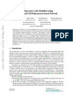 Splitting Source Code Identifiers Using Bidirectional LSTM Recurrent Neural Network